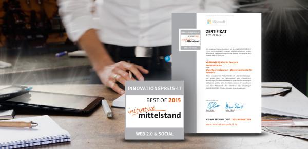 Auszeichnung BEST OF 2015 in WEB 2.0 & SOCIALfür VORANWERK | Büro für Design & Strategie