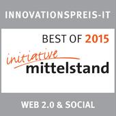 Auszeichnung BEST OF 2015 in WEB 2.0 & SOCIAL für VORANWERK | Büro für Design & Strategie