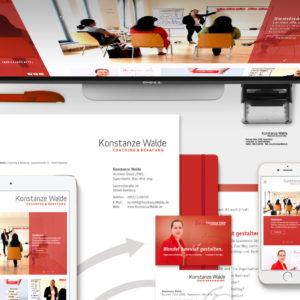 Umfangreiches Corporate Design und Responsive Website für Coach und Beraterin Konstanze Walde