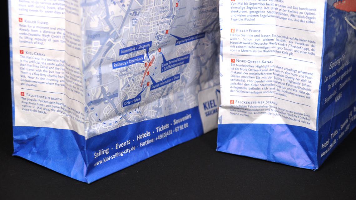 Shopping Bag und Stadtplan für KIEL.SAILING CITY