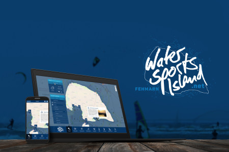 Screendesign des geplanten Webportals WaterSportsIsland.net