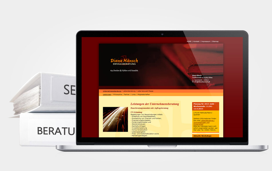 Website für Diana Hänsch | Erfolgsberatung in Zittau