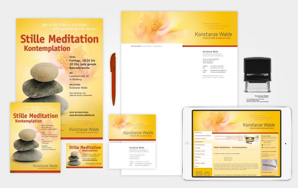Corporate Design für Konstanze Walde | Coaching und Beratung in Bamberg