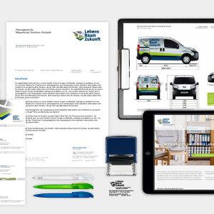Corporate Design des Planungsbüros LebensraumZukunft für eine ganzheitliche Markenführung