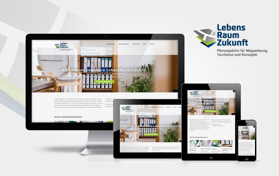 Website für das Planungsbüros LebensraumZukunft für eine ganzheitliche Markenführung