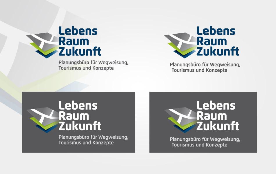 Designvorgaben für das Planungsbüros LebensraumZukunft für eine ganzheitliche Markenführung