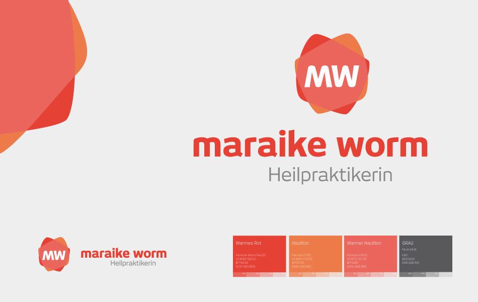 Einheitliche Geschäftsausstattung für Heilpraktikerin Maraike Worm