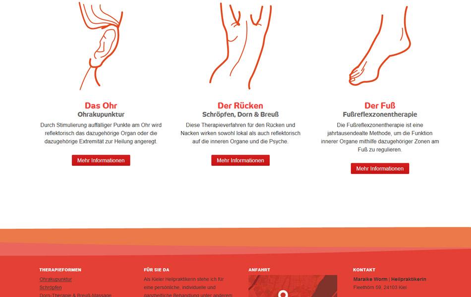 Responsive Website von Maraike Worm | Heilpraktikerin in Kiel