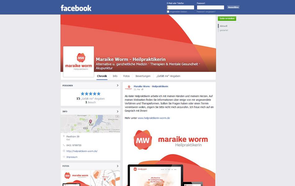 Social Media-Kanäle im einheitlichen Design von Maraike Worm | Heilpraktikerin in Kiel