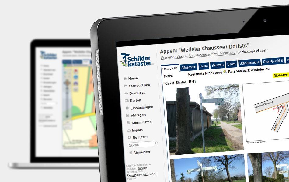 Online-Schilderkataster des Planungsbüros LebensraumZukunft