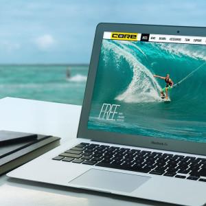 FREE-Produktwebsite für CORE Kiteboarding