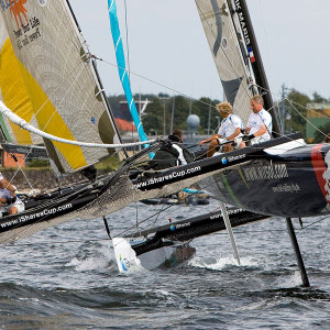 WIRSOL TEAM GERMANY KIEL.SAILING CITY-Team beim iShares Cup 2009 in Kiel - Design & Support durch Tobias Danklefsen